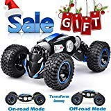 NQD RC Car Off-Road Vehicles Rock Crawler 2.4Ghz Remote Control Car Monster Truck 4WD Dual Motors Electric Racing Car, Kids Toys RTR Rechargeable Buggy Hobby Car Transform Car-Blue