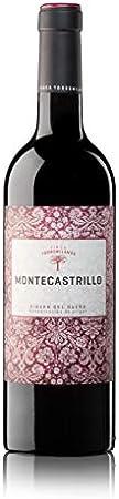 Montecastrillo Tinto 2019 CAJA DE 6 BOTELLAS DE 750 ML (0.75 L). RIBERA DEL DUERO. Vino tinto joven: 90% Tempranillo, 10% Cabernet Sauvignon. Finca Torremilanos.