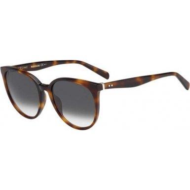 Celine 41068/S Sunglass-005L Havana (XM Green Gradient - Celine Tortoise Sunglasses