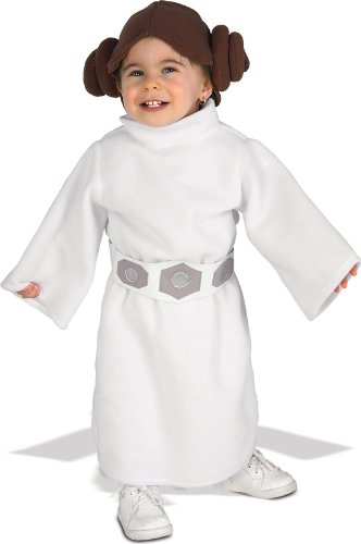 [Rubie's Costume Star Wars Princess Leia Romper, White, 1-2 years] (Costume Princess Leia Star Wars)