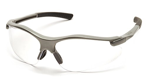 Pyramex Fortress Safety Eyewear, Clear Lens With Gray - Eye Eyewear