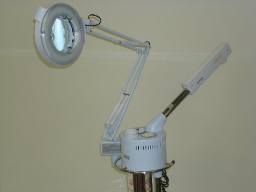 2 IN 1 MAGNIFYING LAMP FACIAL STEAMER PRO Grade BEAUTY SALON SPA Equipment
