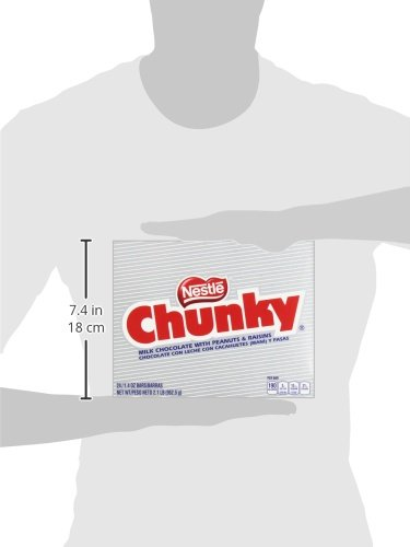 Nestle Chunky Chocolate Single Candy Bars, 1.4 Ounce (Pack of 24) by Chunky (Image #12)