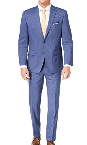 Michael Kors Mens Pinstriped Two Button Wool Suit ()