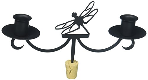 9.5 Inch Dragonfly Wine Bottle Topper from Village Wrought Iron