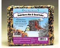 Pine Tree 1361 Fruit Berry Nut and Seed Cake, 2-Pound, My Pet Supplies
