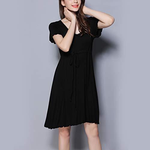 Da Black T V Notte shirt Al Blue Abito Junfelicia Allattamento Allentato Size color Camicia Seno A Donna Plus Pigiameria M Scollo ZwRdFxqY