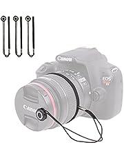 Foto&Tech Camera Lens Cap Keeper Holder with Elastic String Anti-Loss, Compatible with Canon Nikon Sony Panasonic Fujifilm Pentax Sigma DSLR SLR Evil Mirrorless Cameras Video Cameras (3 Pack)