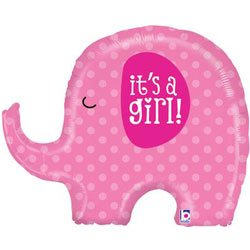 It's A Girl Pink Elephant Baby Shower Party 32