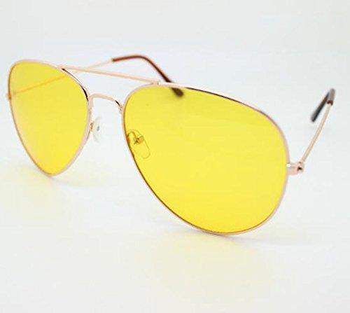 Sol Las de Libre Rosa Ruikey Con de y Sol Aire Gafas Gafas de de Hombres Mujere Estilo Visión al Nocturna Gafas Oro fzawX1SzqU
