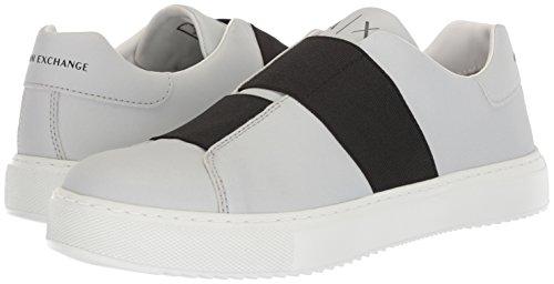 A|X Armani Exchange Men's Low Cut No Laces Sneaker, Silver, 9 Medium US by A|X Armani Exchange (Image #5)