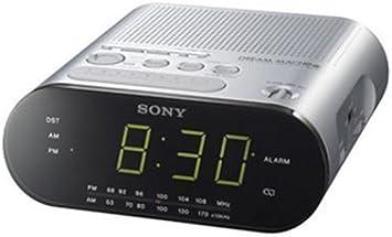 Sony ICFC218S - Radiodespertador AM/FM con ajuste automático ...