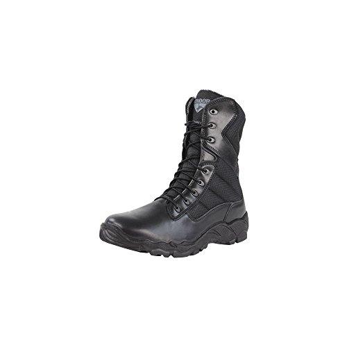 8' Waterproof Tactical Boot (Condor Men's Bailey-Zip 8'' Tactical Waterproof Professional Boots, Black, Leather, Nylon Fabric, 9 E)