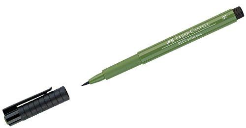 (Faber-Castell Pitt Artist Brush Pen Brush Tipped - Permanent Green Olive (167) )