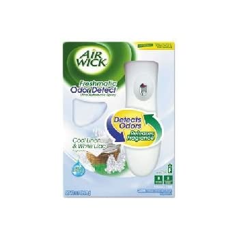 Air Wick Freshmatic Automatic Spray Air Freshener Starter Kit with Odor Detect, Cool Linen and