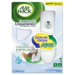 Air Wick Freshmatic Automatic Spray Air Freshener Starter Kit with Odor Detect, Cool Linen and White Lilac, 1 Count (Air Freshener Sensor Spray)