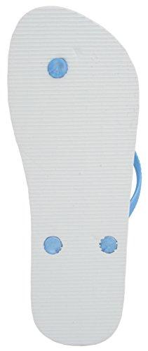 sandrocks Ladies Cebra Flip Flop Azul - azul