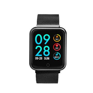 P68 1.3'' Color Screen IP68 Waterproof Smart Watch Heart Rate Blood Pressure Monitor Fitness Sports Bracelet - Sport Smart Watches - (Black) - 1 × P68 Smart Watch ()