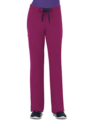 - Modern Fit Collection by Jockey Women's Convertible Drawstring Scrub Pant X-Small Petite Plumberry Wine