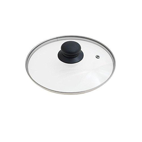 ORYX 5023410-Glasdeckel für Pfanne, 20cm, Edelstahl, transparenter Rand