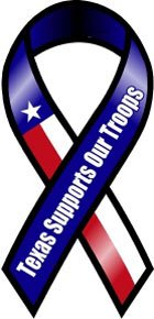 Texas Supports Our Troops Ribbon magnets