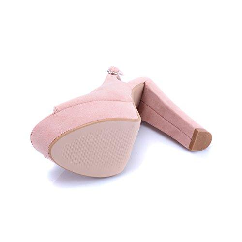 Donna Up MForshop Rosa Pin Tacco 25 Decolte Sandali Cinturino Scarpe Scamosciati Spuntate 017 a6nUIwgAq6