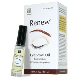 Renew Eyebrow Revitalizer Eyebrow Growth Oil - All Natural Formula Promotes Natural Hair Growth for Luxuriant Eyebrows - Gently Cleanses and Removes Dead Skin Cells for Healthy Vibrant Hair ()