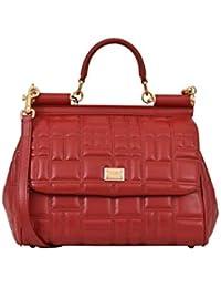Women's BB6200AV3218M307 Red Leather Handbag
