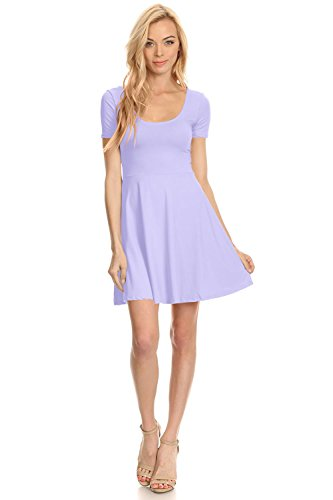 Womens Casual Fit Flare Dress