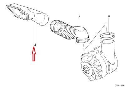 BMW Genuine Alternator Air Duct Cooling Duct Intake for 320i 323i 325i 325is 328i M3 M3 3.2