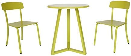 Christopher Knight Home 304875 Larissa Outdoor Bistro Set, Matte Lime Green