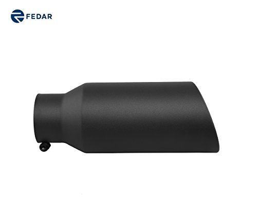 Fedar 4'' Inlet 6'' Outlet 15'' Long Rolled End Angle Cut Exhaust Tailpipe Tip (Inlet Rolled End 4')