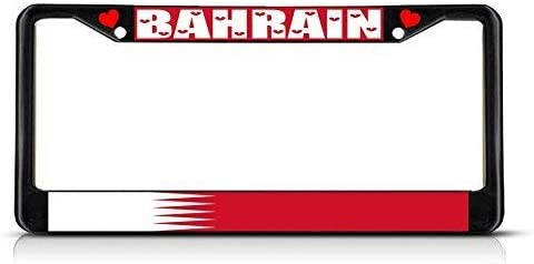 BAHRAIN FLAG COUNTRY Metal License Plate Frame Tag Holder