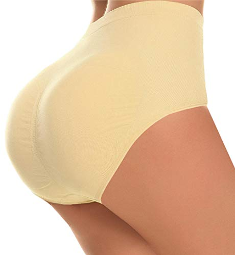 CeesyJuly Womens Butt Shaper Tummy Slim Firm Control Panties with Removable  Pads