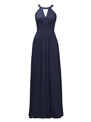 Long Alicepub Prom Gown Maxi Formal Dress Bridesmaid Dark Navy Wedding Evening Keyhole for wrftYw