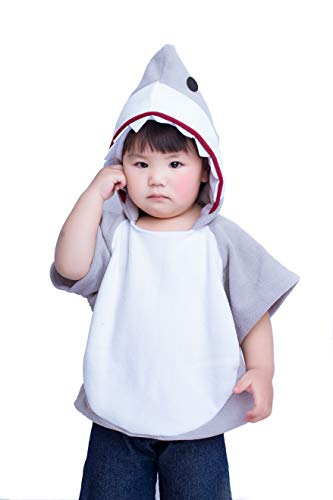 Children's Shark Halloween Costume Mascot Hoodie Grey