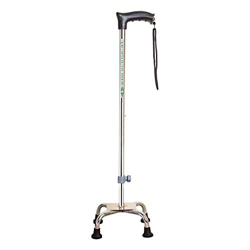 Kds Surgical 4 Leg Croome Men/Women/Old People Patient Walking Stick (With Support)