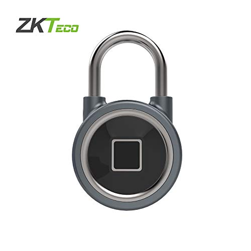 Fingerprint Padlock with Bluetooth Waterproof Keyless Padlock for Outdoor, Suitcase,Backpack,Gym,Bike,Smart Security Lock with USB Charge