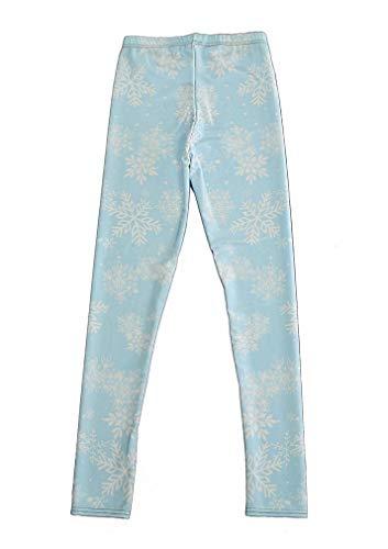 Maxi Women's Active Colored Cute Fashion Snowflake Christmas Leggings]()