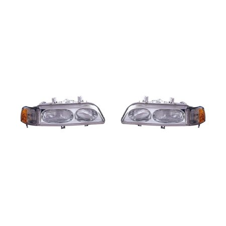 Fits Acura Legend Sedan 1991-1995 Headlight Assembly Pair Driver and Passenger Side