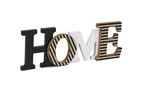 "10 Street Home Modern Rustic Wood Home Decorative Sign, Standing or Wall Mount Cutout Word Decor, Living Room Accent… - GIVES YOU THE WARM FEELING OF BEING HOME - Make your place feel more like home with this great accent piece MODERN RUSTIC "" HOME "" DECOR - Neutral colors that looks great and accents your entryway, living room or bedroom FREE STANDING or WALL MOUNT - Display by standing on your bookshelf, mantle, coffee table, countertop or wall-mount using built-in D-rings - living-room-decor, living-room, home-decor - 31H3HkuTgmL -"