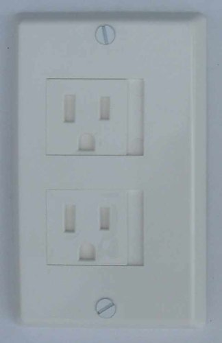 K Products Child Safety Electrical Outlet Cover Sliding Doors, WH