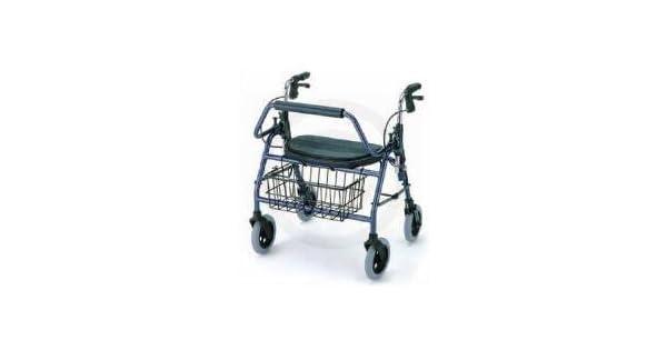 Amazon.com: Rollator – 600 Lb Capacidad Azul Mighty Maxi es ...