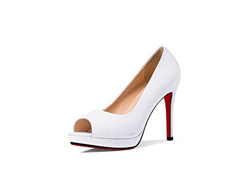 Frauen Echtes Leder Stiletto High Lady Arbeiten Spitz Schuhe Hochzeitspumpen Sexy Heels Klassische Brautjungfer qqrwdC