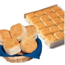 Bridgford Foods Sliced Buttermilk Biscuit, 1 Ounce - 120 per case.