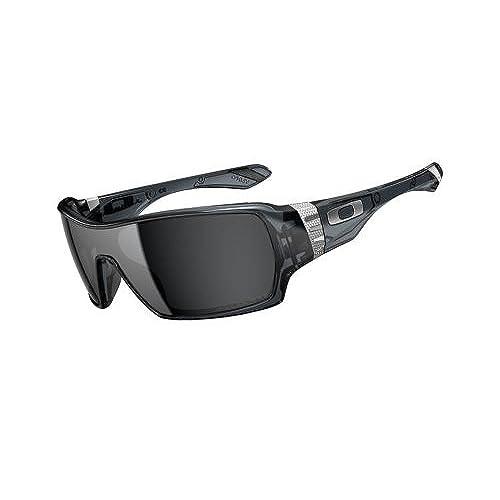 Oakley Offshoot OO9190-05 Polarized Wrap Sunglasses,Crystal Black,44mm