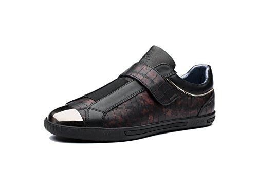 OPP Chaussures en Cuir de Ville pour Homme Nouvelle Noir v3rpip