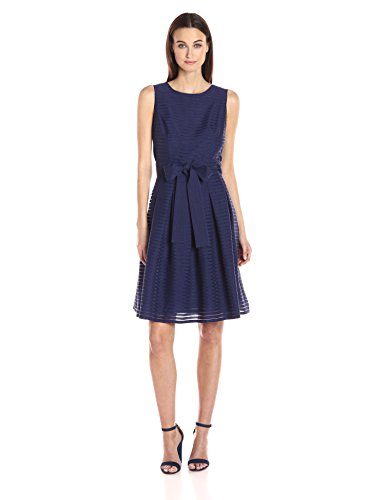 Tommy Hilfiger Women's Solid Crinkle Georgette Long Maxi, Navy, 10