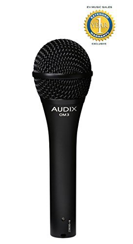 Audix OM3 Handheld Dynamic Hypercardioid Vocal/Instrument Microphone with 1 Year Free Extended Warranty by Audix