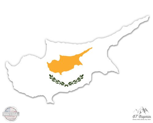 Cyprus Map Flag Country Shape - 3